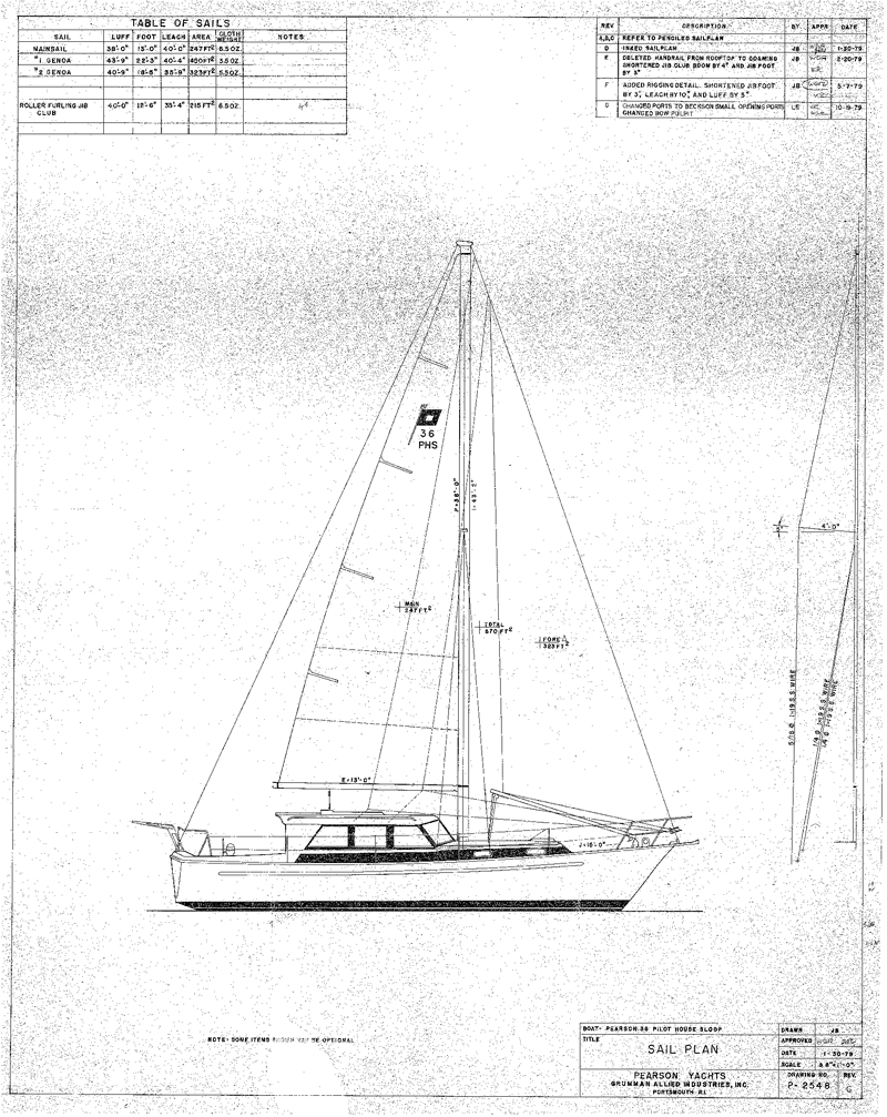Sail Plan Drawing